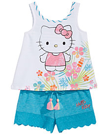 Hello Kitty Baby Girls 2-Pc. Graphic-Print Tank Top & Shorts Set