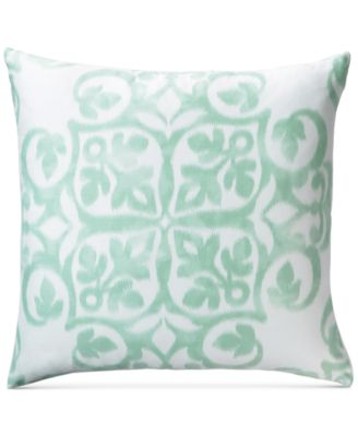 Cotton Watercolor Medallion-Print European Sham, Created for Macy's
