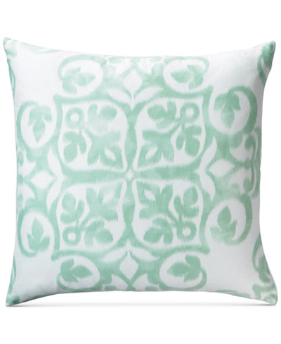 Charter Club Damask Designs Cotton Watercolor Medallion-Print European Sham, Created for Macy's