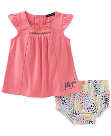 Tommy Hilfiger 2-Pc. Top & Bloomers Set, Baby Girls