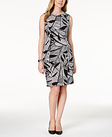 Kasper Printed Sheath Dress, Regular & Petite