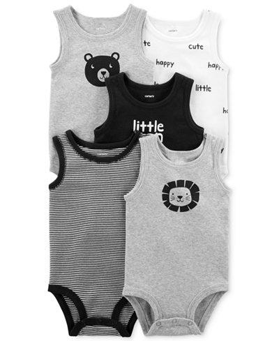 Carter's 5-Pk. Tank-Top Cotton Bodysuits, Baby Boys