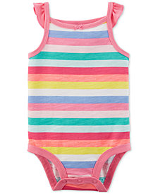 Carter's Baby Girls Striped Cotton Bodysuit
