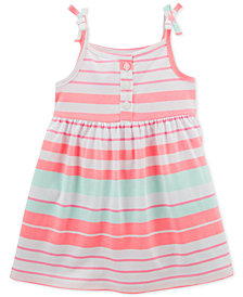 Carter's Striped Cotton Dress, Baby Girls