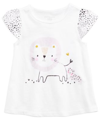 Baby Girls Graphic-Print Cotton Top, Created for Macy's