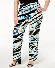Alfani Plus Size Printed Soft Pants, Created for Macy's