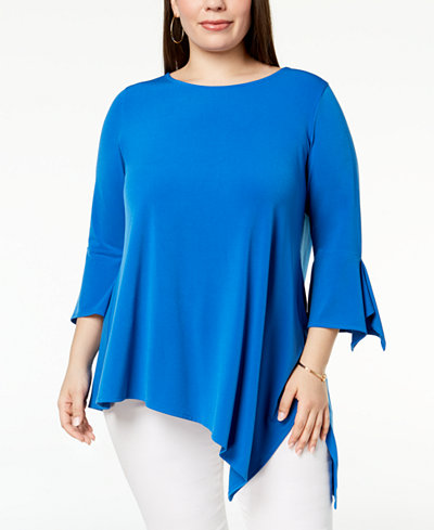 Alfani Plus Size Asymmetrical Top, Created for Macy's
