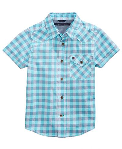 Tommy Hilfiger Andrew Plaid Cotton Shirt, Big Boys