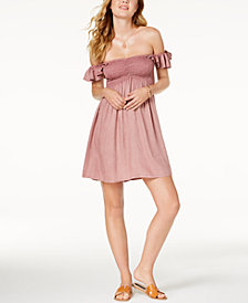 Raviya Off-The-Shoulder Ruffled Cover-Up Dress