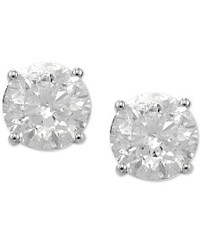 Diamond Stud Earrings in 14k White Gold (3 ct. t.w.)