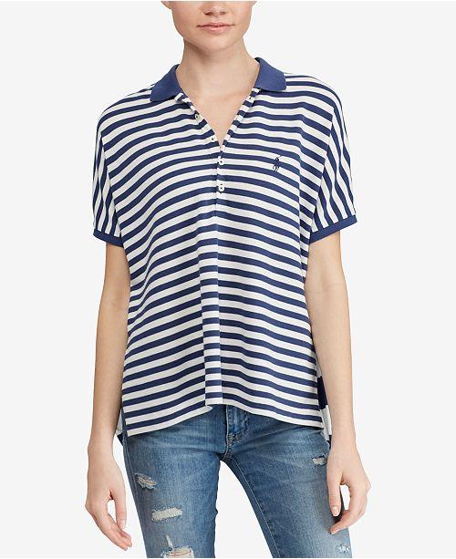 Tops Women Shirtamp; Polo Lauren Reviews Poncho Ralph Striped DEH29IW