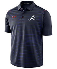 Nike Men's Atlanta Braves Stripe Polo