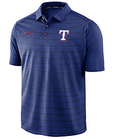 Nike Men's Texas Rangers Stripe Polo