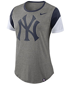 Nike Women's New York Yankees Tri-Blend Crew T-Shirt