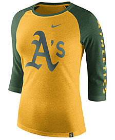 Nike Women's Oakland Athletics Tri-Blend Raglan T-Shirt