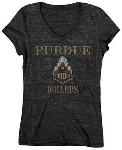 Blue 84 Women's Purdue Boilermakers Ragged Edge Tri-Blend T-Shirt