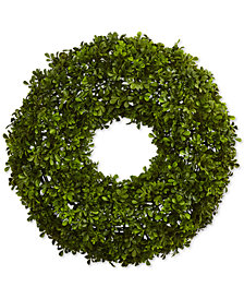 """Nearly Natural 22"""" Boxwood Wreath"""
