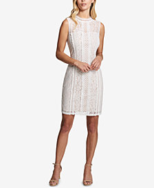 kensie Geo-Lace Sheath Dress