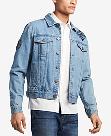 Tommy Hilfiger Men's Patch Denim Jean Jacket, Created for Macy's