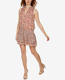 Lucky Brand Printed Drop-Waist Dress