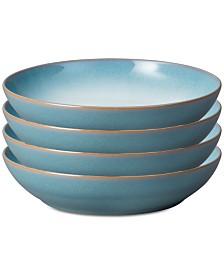 Denby Azure Coupe 4-Pc. Pasta Bowl Set