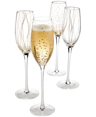 Cheers Party Flutes, Set of 4 - A Macy's Exclusive
