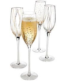 Mikasa Cheers Party Flutes, Set of 4 - A Macy's Exclusive