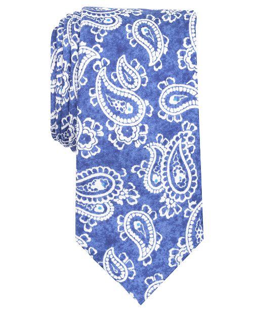 Tallia Men's Eleanor Paisley Slim Silk Tie