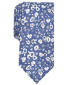 Tallia Men's Banner Floral Slim Silk Tie