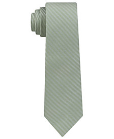 DKNY Men's Street Unsolid Solid Slim Silk Tie