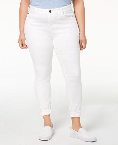 Celebrity Pink Plus Size Boyfriend-Fit Jeans