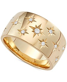 Diamond Star Wedding Band (1/6 ct. t.w.) in 18k White Gold, Gold or Rose Gold, Created for Macy's