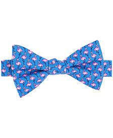 Tommy Hilfiger Men's Printed Flamingo Pre-Tied Silk Bow Tie