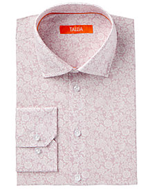 Tallia Men's Fitted Faded Floral Dress Shirt