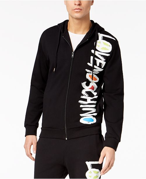 c6e9f35f6e20 Love Moschino Men s Zip-Front Hoodie   Reviews - Hoodies ...