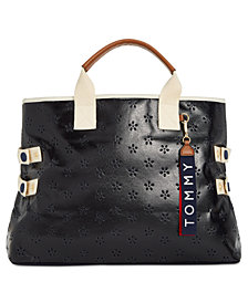 Tommy Hilfiger Classic Tommy Perforated Tote