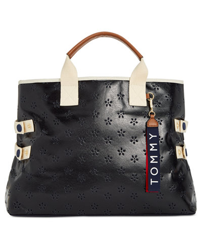 Tommy Hilfiger Classic Tommy Perforated Extra-Large Tote