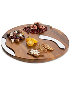 Nambe Cheese Board with Knife and Spreader