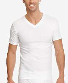 men's classic collection v-neck tagless Undershirt 3-pack with staynew technology