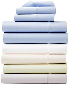 AQ Textiles Surrey 4-Pc. Sheet Set, 650 Thread Count 100% Cotton Sateen
