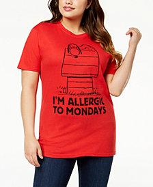 Hybrid Plus Size Cotton Snoopy T-Shirt