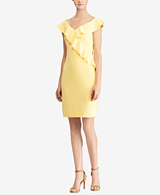 Lauren Ralph Lauren Petite Crepe Off-The-Shoulder Dress