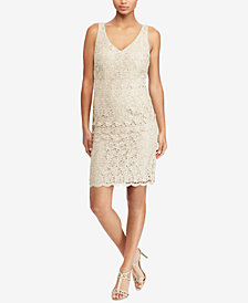 Lauren Ralph Lauren Metallic Lace Dress