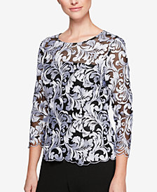Alex Evenings Illusion Soutache Blouse