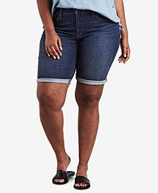 Levi's® Plus Size Lost Blues Cotton Denim Bermuda Shorts