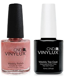 Creative Nail Design Vinylux Strawberry Smoothie Nail Polish & Top Coat (Two Items), 0.5-oz., from PUREBEAUTY Salon & Spa