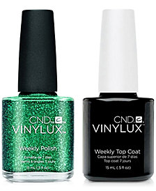 Creative Nail Design Vinylux Emerald Light Nail Polish & Top Coat (Two Items), 0.5-oz., from PUREBEAUTY Salon & Spa