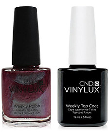 Creative Nail Design Vinylux Patina Buckle Nail Polish & Top Coat (Two Items), 0.5-oz., from PUREBEAUTY Salon & Spa