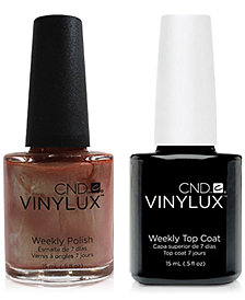 Creative Nail Design Vinylux Sienna Scribble Nail Polish & Top Coat (Two Items), 0.5-oz., from PUREBEAUTY Salon & Spa