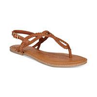 American Rag Keira Braided Flat Sandals (Cognac)